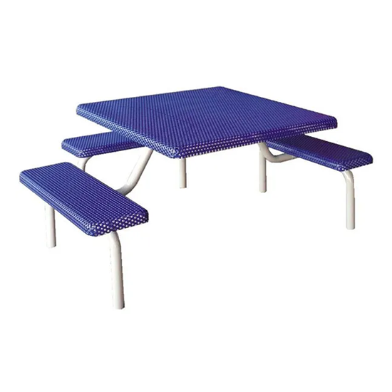 Square Metal Picnic Table - Wheelchair Accessible - Portable