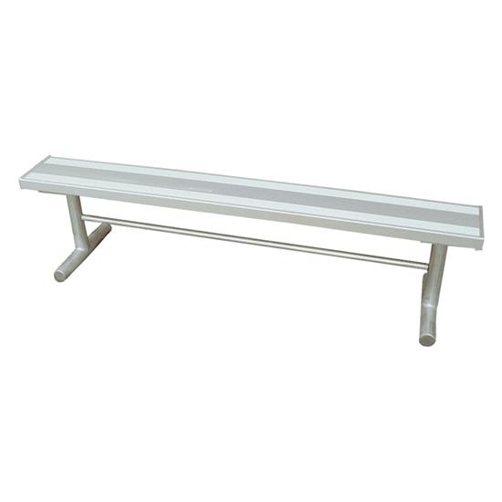 6 Ft. Aluminum Park Bench Without Back - Galvanized Frame - Portable