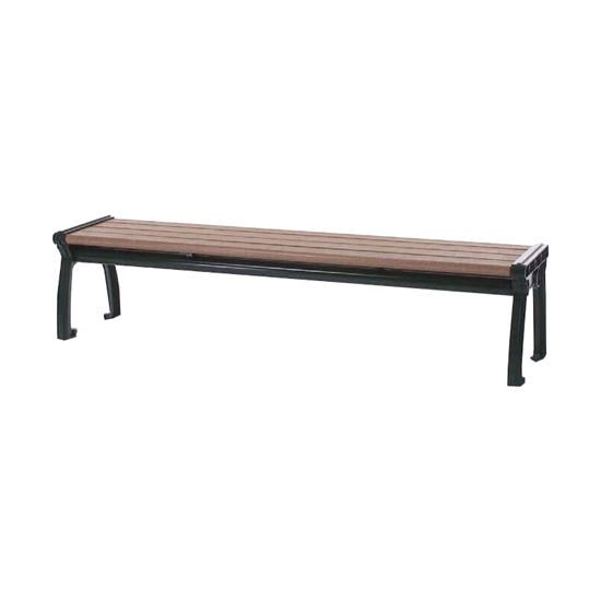 6 Ft. Recycled Plastic Bench - Steel Frame - Surface Mount Or Portable
