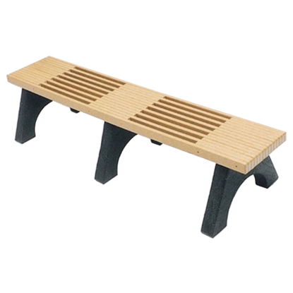 6 Ft. Recycled Plastic Bench Without Back