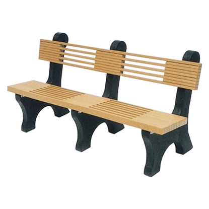 6 Ft. Recycled Plastic Bench With Back