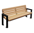 6 Ft. Recycled Plastic Bench With Back - With Powder Coated Steel - Surface Mount