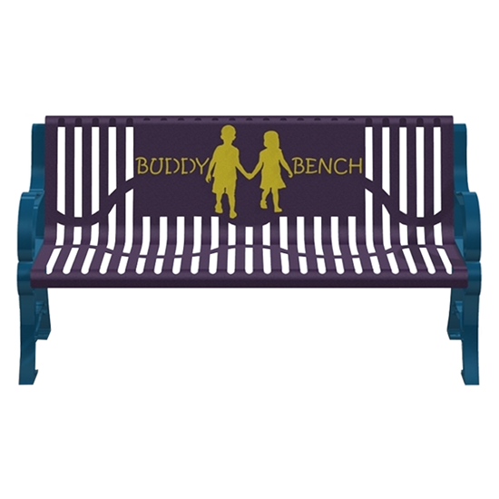 5 Ft. Buddy Bench - Classic Style - Thermoplastic Steel - Portable