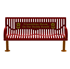 6 Ft. Buddy Bench - Wingline Ribbed Steel