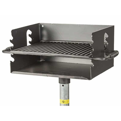 Flip Grate Park Grill - 300 Sq. Inch Cooking Surface - Inground Mount