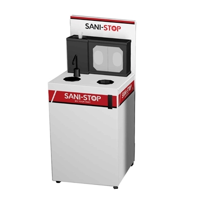 Sani-Stop Mobile All-In-One Sanitation Cart - 72 lbs.