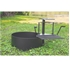 Ultimate Cooking Fire Ring with Swinging Grate and 300 Sq In Grilling Surface - 100 lbs.