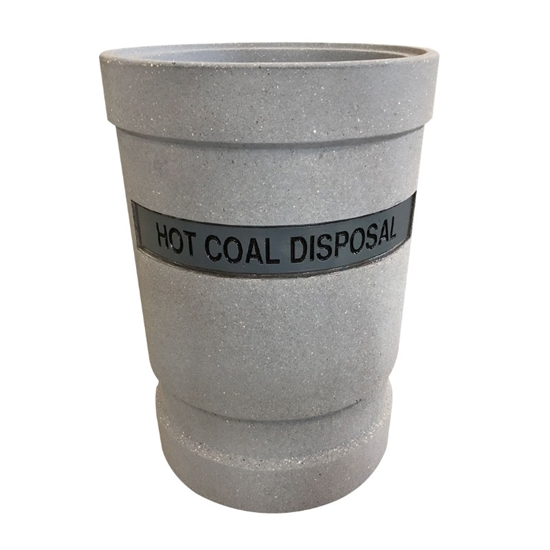 53-Gallon Hot Coal and Ash Concrete Receptacle - 610 lbs.