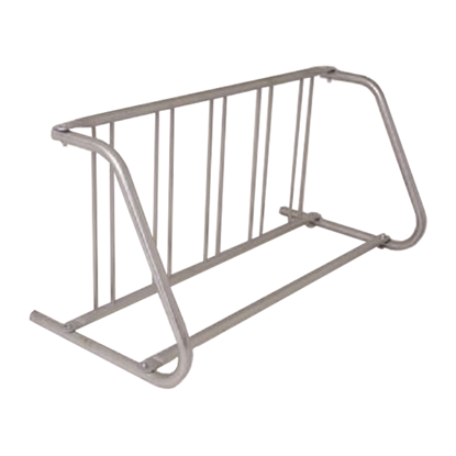 5 Space Grid Bike Rack, Galvanized Or Powder Coated Steel - Quick Ship