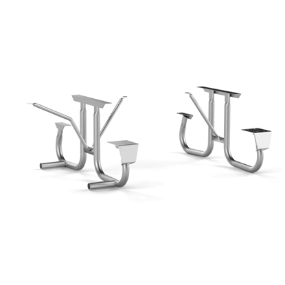 """Picture of ADA Frame Kit for 8 ft Picnic Table - Side Access -Welded 2 3/8"""" Galvanized Steel - Portable"""