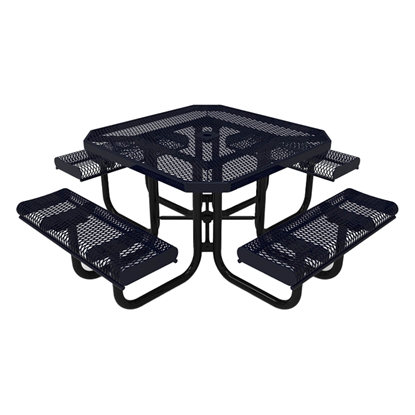 Thermoplastic ELITE Series Portable Picnic Table with Expanded Metal Seats