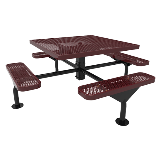 Thermoplastic ELITE Series Nexus Picnic Table with Expanded Metal Seats