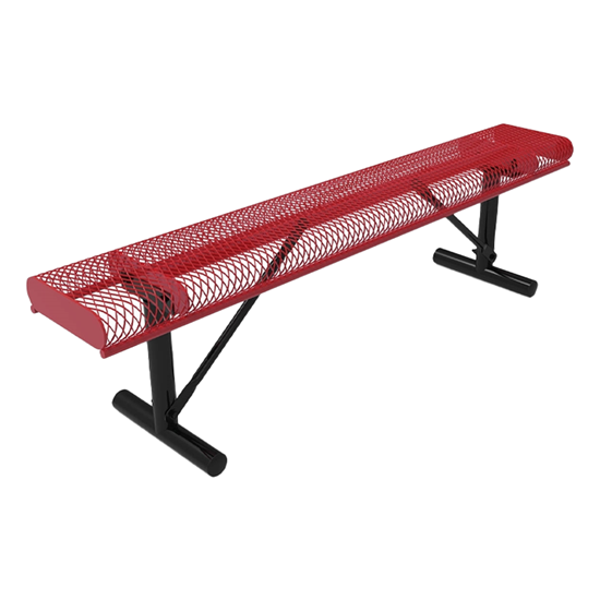 ELITE Series 6 Ft. Rolled Edges Bench without Back