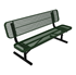 ELITE Series 8 Foot Player's Bench with Back, Expanded Metal, Portable
