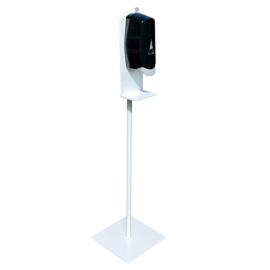 Hand Sanitizer Dispenser Stand with Powder Coated Aluminum Frame - Stand Only