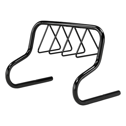 7 Space Triangle Bike Rack - Powder Coated Steel - Portabl