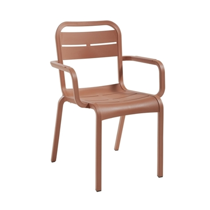 Cannes Dining Armchair with Stackable Resin Frame - 10 lbs.