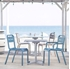 Cannes Stackable Armless Dining Chair with Commercial Frame - 8.5 lbs.