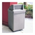 53 Gallon Concrete Trash Can With Spring-Loaded Push Door - Scene