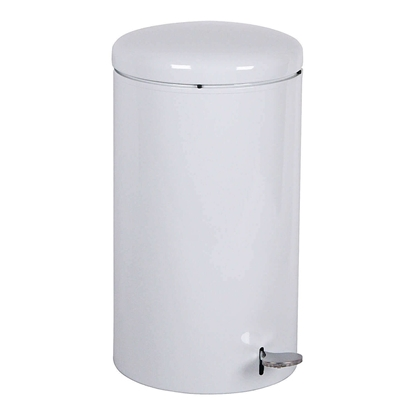 Trash Can Round 7 Gallon Steel With Step Open Top