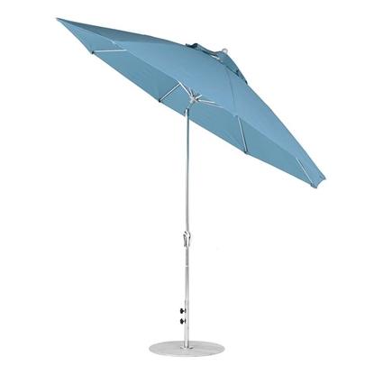 11 ft. Octagonal Auto Tilt Crank Market Umbrella - Fiberglass Ribs