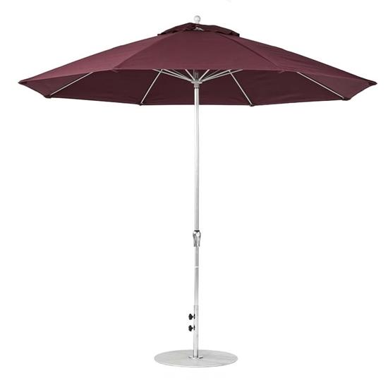 11 ft. Octagonal Crank Market Umbrella - Fiberglass Ribs