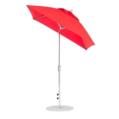 6.5 ft. Square Auto Tilt Crank Market Umbrella - Fiberglass Ribs