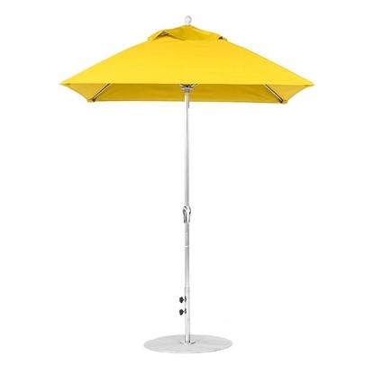 6.5 ft. Square Crank Lift Market Umbrella