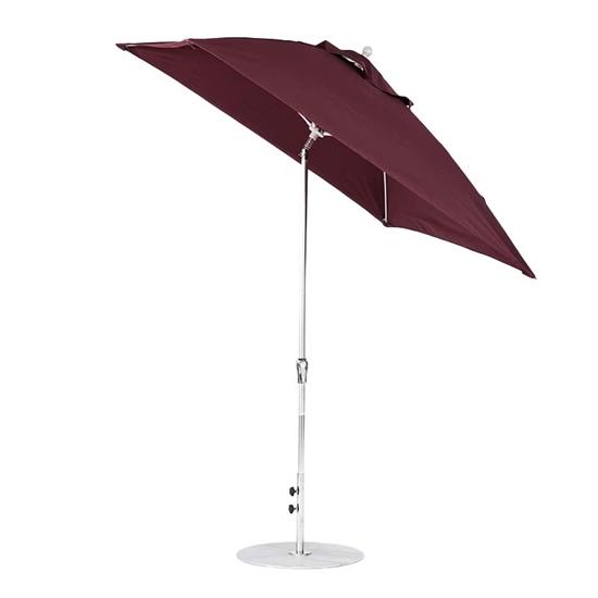 7.5 ft. Square Auto Tilt Crank Market Umbrella - Fiberglass Ribs