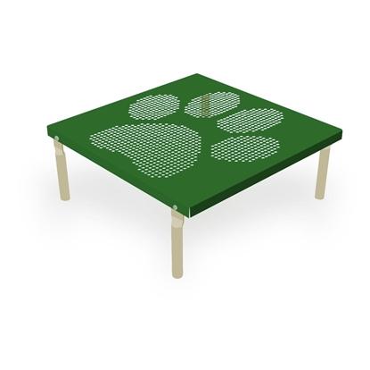 Square Bone Dog Park Table _ angled