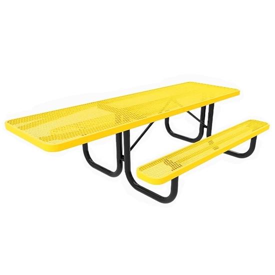 ADA RHINO 8 Foot Rectangular Thermoplastic Steel Picnic Table