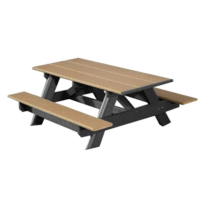 Rectangular Picnic Table 6 Foot Recycled Plastic - Portable