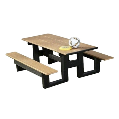6 Ft. Rectangular HDPE Recycled Plastic Picnic Table - Portable