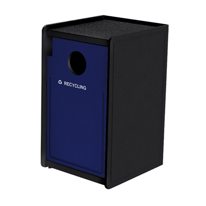 32-Gallon Side-Opening Plastic EarthCraft Recycling Receptacle - 91 lbs.