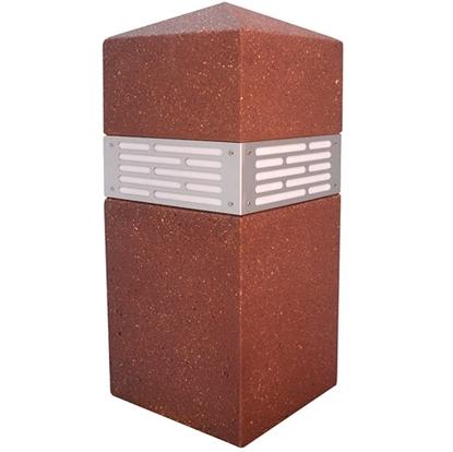 Lighted Square Concrete Bollard