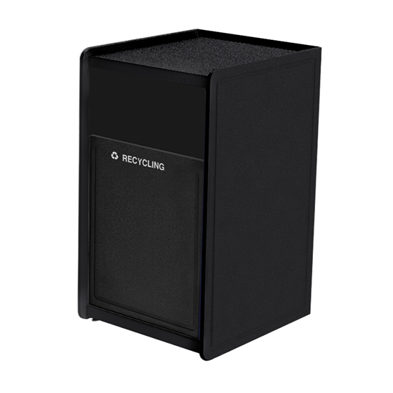 32-Gallon Side-Opening Plastic EarthCraft Trash Receptacle - 91 lbs.