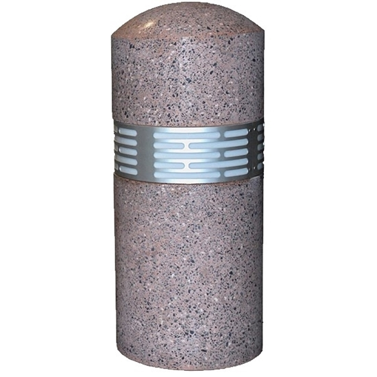 Lighted Round Concrete Bollard Dome Top