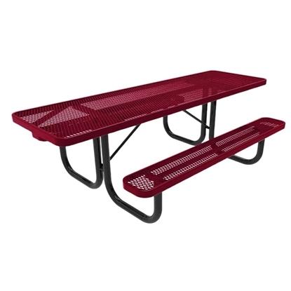 ADA RHINO 8 Foot Rectangular Thermoplastic Steel Picnic Table Dual Access