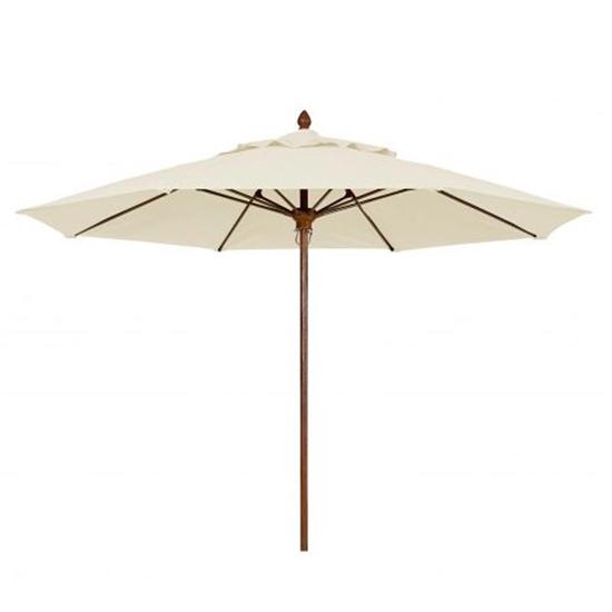 11 Ft. Octagonal Market Umbrella -Bridgewater Style - FiberTeak Pole - Marine Grade Fabric