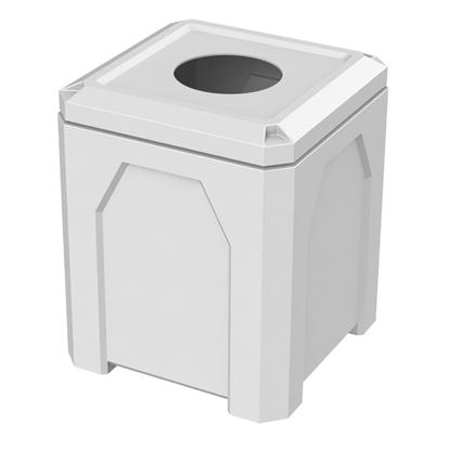 42 Gallon Square Trash Receptacle