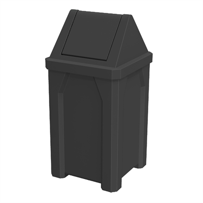 32 Gallon Trash Can with Swing Door Lid