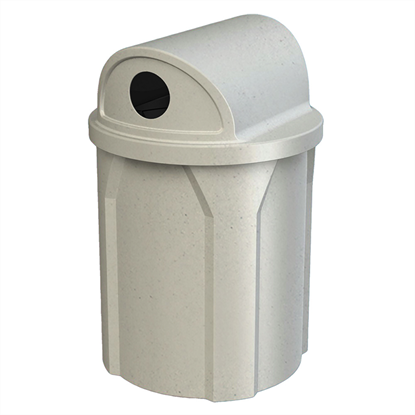 42 Gallon Trash Receptacle With 2 Way Recycling Lid