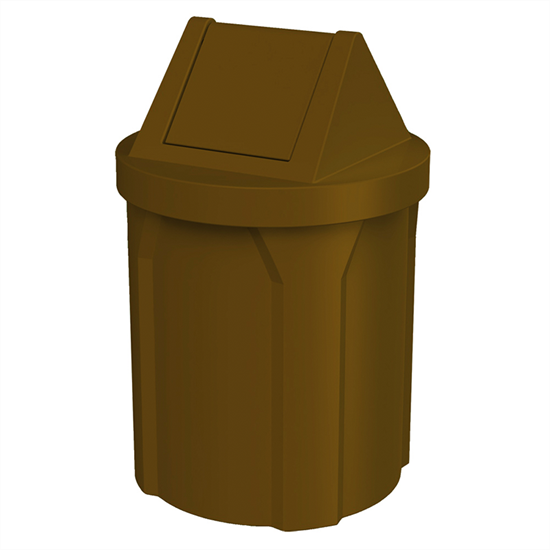 42 Gallon Trash Can with 2 Way Swing Lid