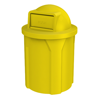 42 Gallon Trash Can with Dome Top Lid